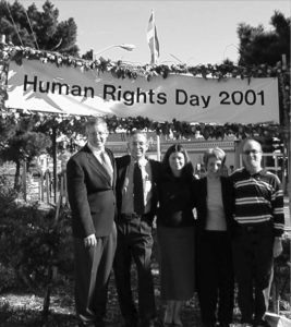 Dedication ceremony on anniversary of Universal Declaration of Human Rights.